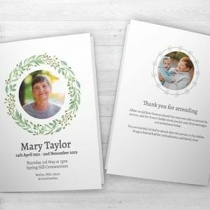 Funeral Order Of Service Printing