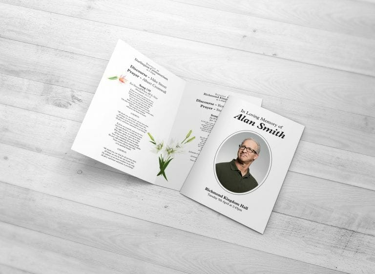 funeral order of service designs