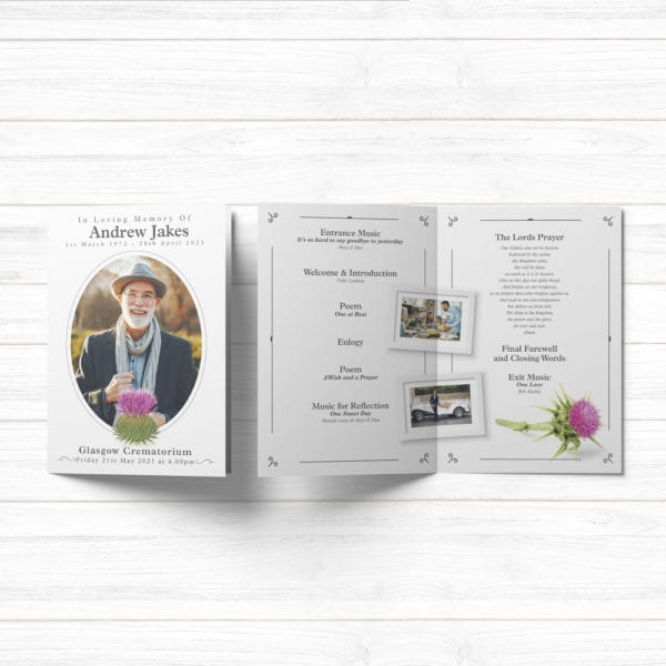 funeral order of service template pdf