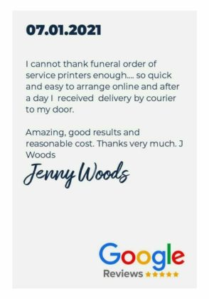 This is an image of funeral order of service template for pages